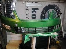 Зеленый бампер на Шкода.jpg